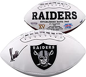 Marcus Allen Oakland Raiders Autographed White Panel Football - Fanatics Authentic Certified - Autographed Footballs