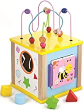 Viga Toys vg50221 Actividad bloque de madera, multicolor