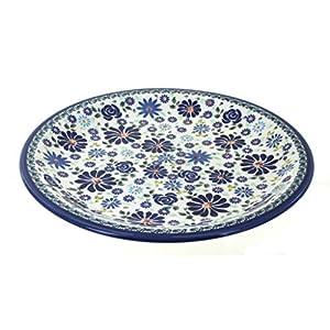 Blue Rose Polish Pottery Fantasy Dinner Plate