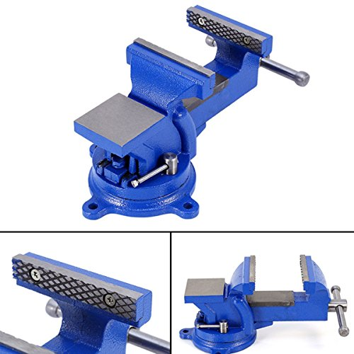 4'' 100mm Heavy Duty Bench Vice Anvil Swivel Locking Base Table Top Clamp Base for home handyman by Heaven Tvcz (Image #2)