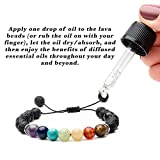 Chakra & Lava Rock Stones - Essential Oil Diffuser Bracelets - Aromatherapy Anxiety Self Confidence Meditation Relax Healing Grounding Reiki Genuine - Also Suitable as Distance Bracelets for Couples