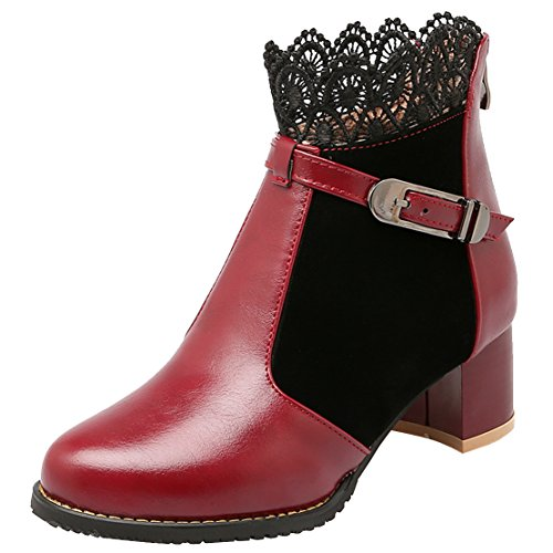 AIYOUMEI Women's Classic Boot Red CuhtSald