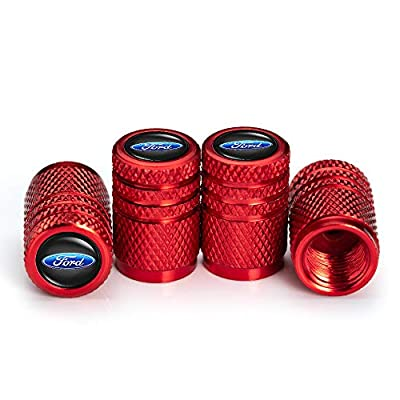 IJUSTBY 4 Pcs Metal Car Wheel Tire Valve Stem Caps for Ford Explorer F-150 F250 F350 F450 F550 Fusion Explorer Edge Logo Styling Decoration Accessories.: Automotive