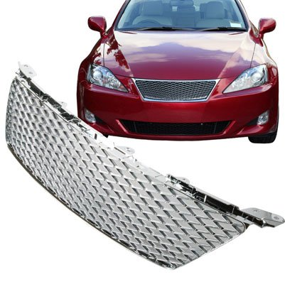 06-08 Lexus IS250 / IS350 Front Hood Mesh Grill - Chrome (Lexus Chrome Grill)