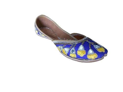 Kalra Creations Mojari - Zapatos de Piel para Mujer 9aa13c9736ee
