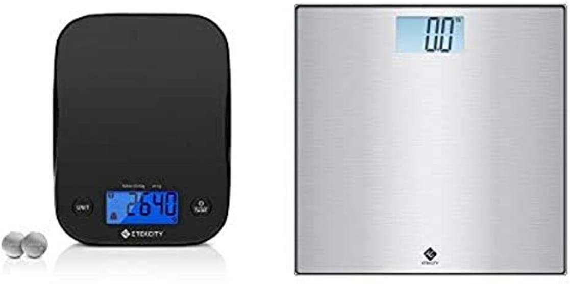 Etekcity Food Kitchen Scale and Stainless Steel Digital Body Weight Bathroom Scale