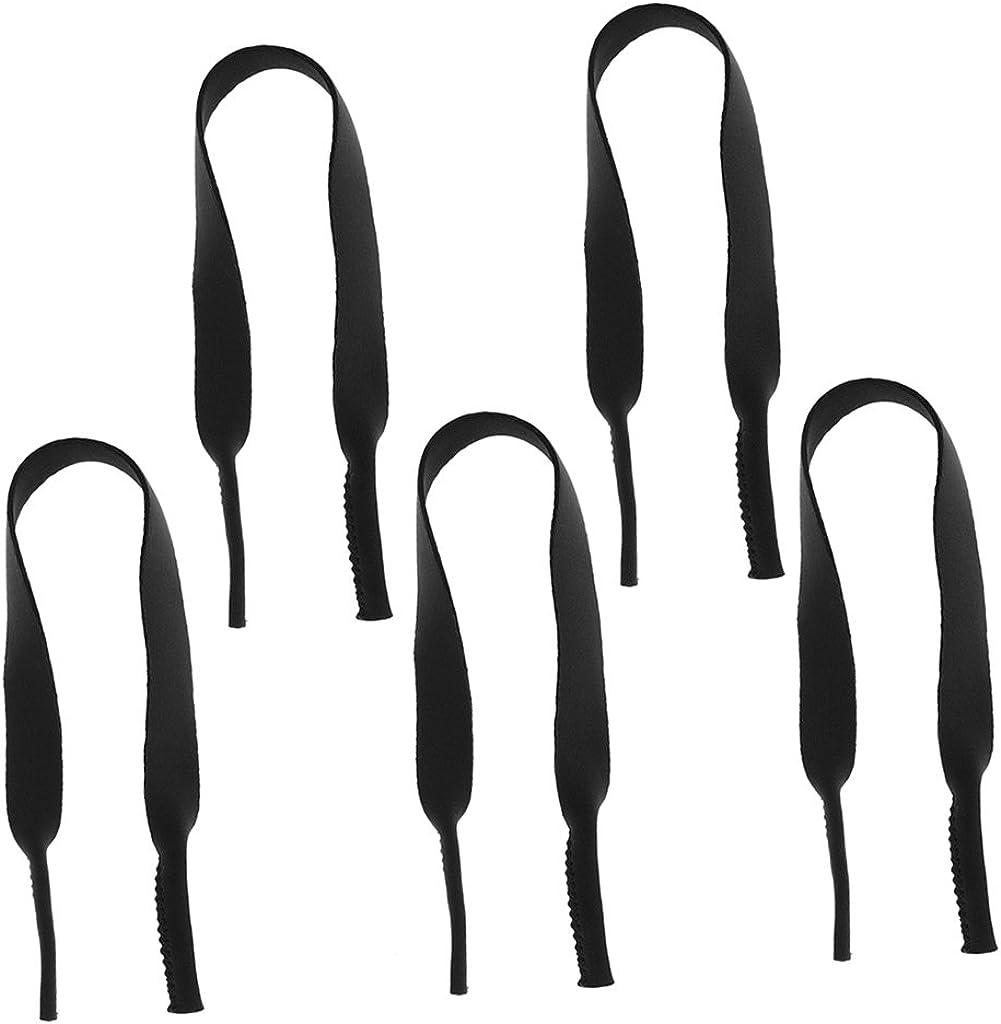 Sharplace 5 pcs Neopren Brillenschnur Brillenband Brillenkette Sonnenbrille Band f/ür L/äufer und Schwimmer