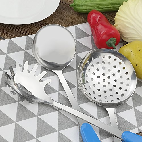 Fiaze Stainless Steel Kitchen Cooking Utensil Set, 10-Piece by Fiaze (Image #6)