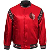 STARTER NBA Portland Trail Blazers Youth Boys The Enforcer Retro Satin Jacket, Large, Red