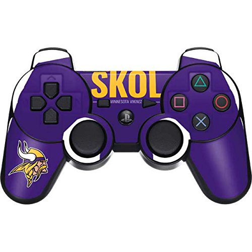 Skinit Minnesota Vikings Team Motto PS3 Dual Shock Wireless Controller Skin - Officially Licensed NFL Gaming Decal - Ultra Thin, Lightweight Vinyl Decal Protection (Vikings Wireless Minnesota Controller)