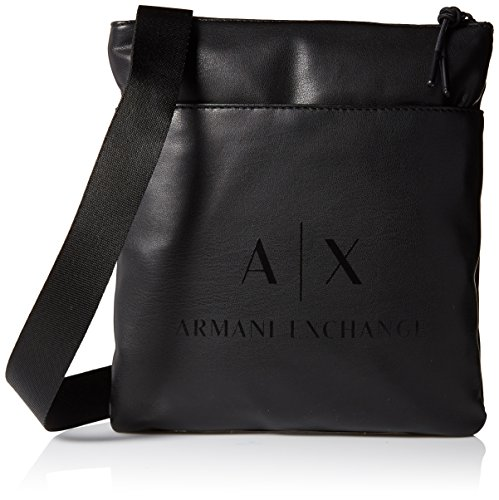 Armani Exchange Men's Eco- Nappa Crossbody Accessory, -black/black, TU