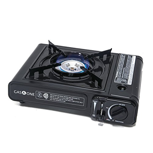 (Gas ONE GS-1000 7,650 BTU Portable Butane Gas Stove Automatic Ignition with Carrying Case, CSA Listed (Stove))
