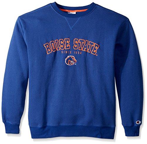 NCAA Boise State Broncos Adult Men Crew Neck Fleece, Large, Blue