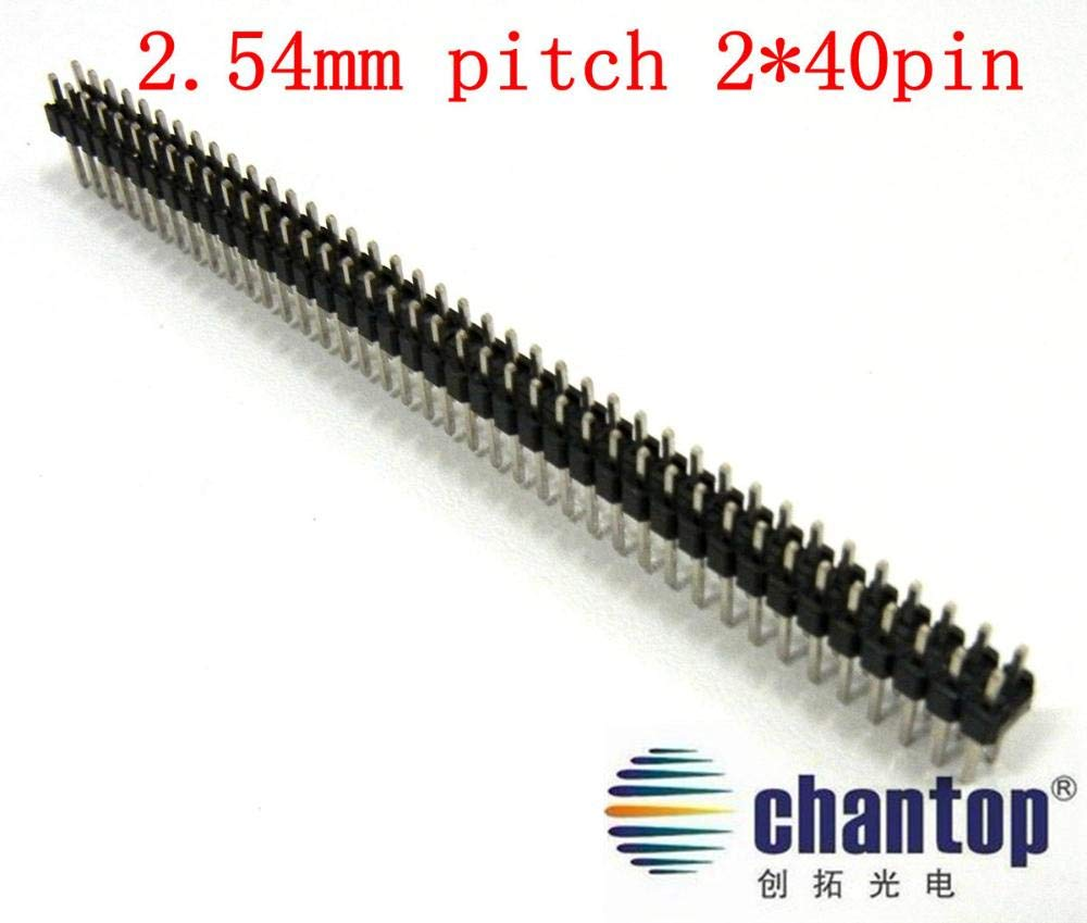 3PCS 2.54mm 2 x 40 Pin Male Double Row Pin Header Strip GOOD QUALITY
