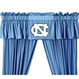 NCAA University of North Carolina Tarheels - 5pc Jersey Drapes-Curtains and Valance Set