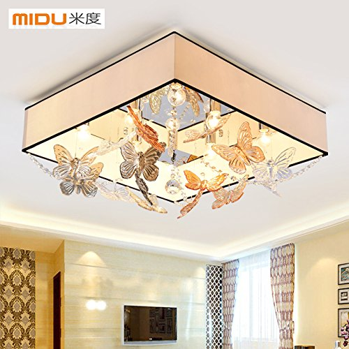 SSBY Rechteckige LED-Lampe Wohnzimmer lampe lampen Crystal Butterfly ...