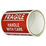 "TapeCase ""Fragile, Handle With Care"" Label - 50 per pack (1 Pack)"
