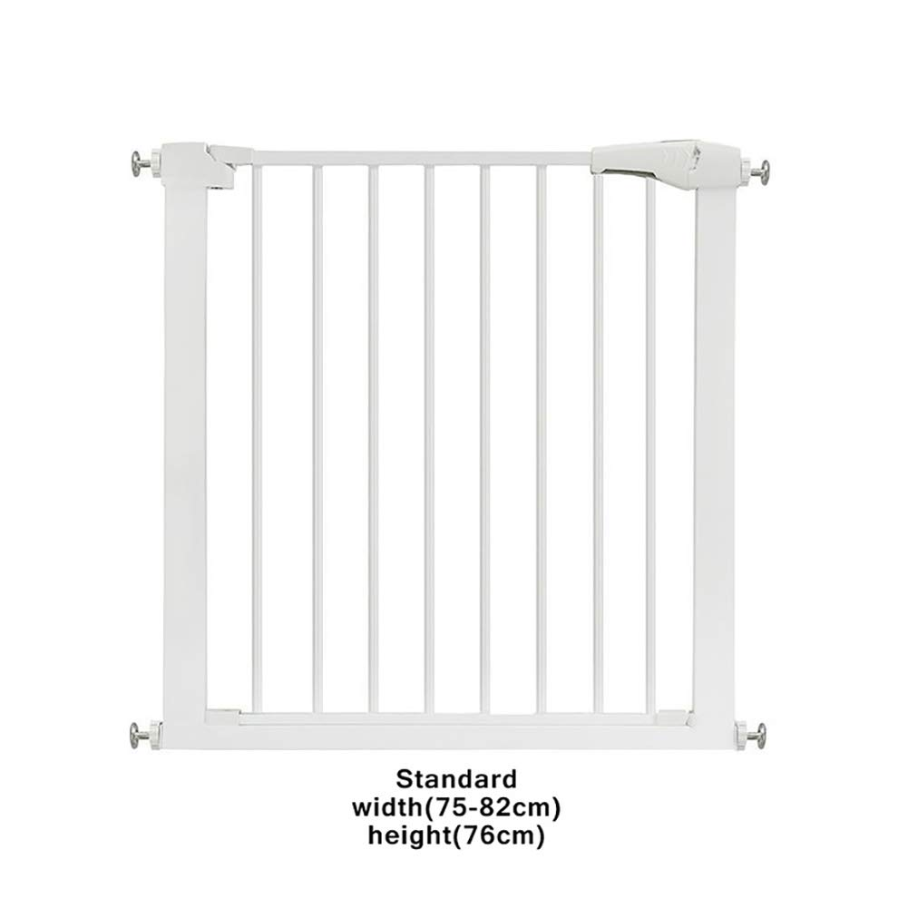 Safety 1St Easy Install Metal Baby Gate with Pressure Mount Fastening Auto Close Pressure Mount Baby Gate for Stairs, Hallways and Doors,M