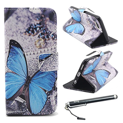 """iPhone 6 Case, iPhone 6s 4.7"""" Case, Speedtek Butterfly Pattern Premium PU Leather Wallet Flip Protective Skin Case with Magnetic Closure for Apple iPhone 6/6s 4.7"""" (with Credit Card/ID Card Slot)"""