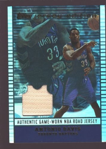 ANTONIO DAVIS 2002-03 TOPPS JERSEY EDITION GAME WORN USED PATCH SP RAPTORS $15 ()