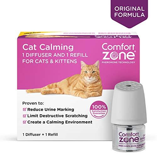 Comfort Zone BASIC Calming Diffuser Kit for Cat Calming, 1 Diffuser, 1 Refill