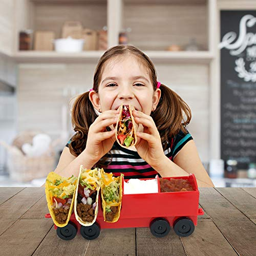 The Taco Train Party Holder Stand - Holds 3 Additional Tacos and Condiments - Kids Parties or Taco Tuesdays - By Fyve Global (Add-On Car) by Fyve Global (Image #2)