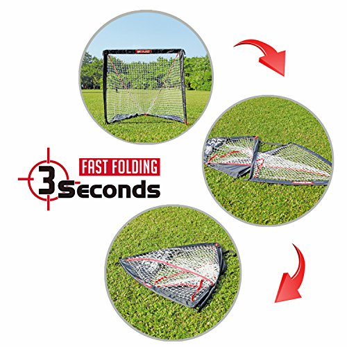 NET PLAYZ 4 x 4 x 4 Feet Lacrosse Goal Fast Install, Fiberglass Frme, Lightweight, Foldable, Portable, Carry bag Included by NET PLAYZ (Image #3)