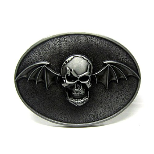 Vampire Skull Bat Wings Belt Buckle Mens Vintage Punk Gothic Biker - Belt Skull Buckle Biker