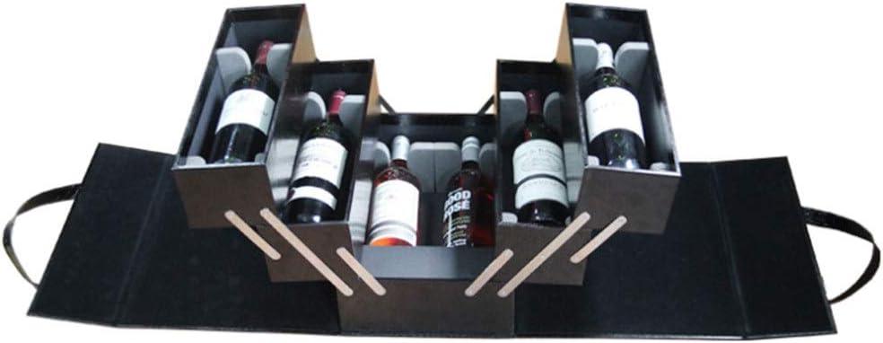 Caja de botella de vino Multicapa vino de la caja de gran tamaño for 6 botella