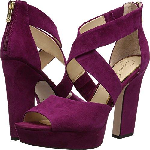 Jessica Simpson Women's Tehya, Sangria, 7 Medium US (Platforms Leather Jessica)