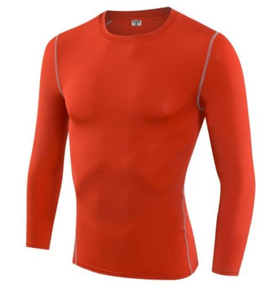 LL Compression Mens Long Sleeves Top Shirt Base Layer Thermal Sport Gym Cycling