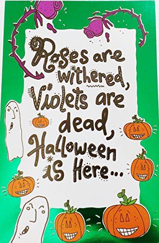 Roses are withered, Violets are dead, Halloween is Here... Let's hop into bed! Romantic Flirty Happy Halloween Greeting Card for Lover Couple Boyfriend Girlfriend Husband -