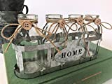 Four Vintage Glass School Milk Bottles In Crate Bud Vase Wire Basket Weddings