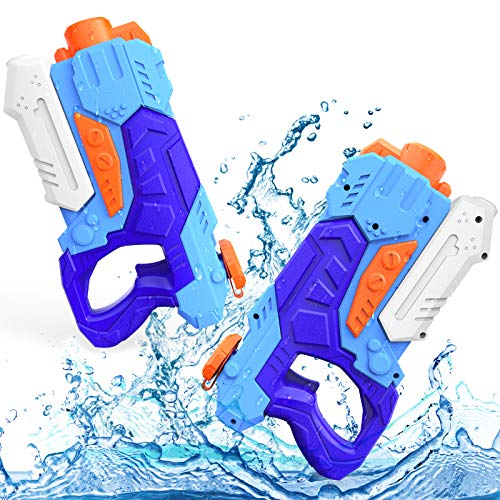 Kiztoys Water Gun Toys for Kids, 2 Pack Powerful Water Pistols with 1200ML Large Capacity and 33ft Long Range for Summer Water Sports Garden Beach