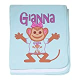 CafePress - Little Monkey Gianna - Baby Blanket, Super Soft Newborn Swaddle