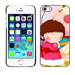 Slim Design Hard PC/Aluminum Shell Case Cover for Apple Iphone 5 / 5S Cute Girls Gang / JUSTGO PHONE PROTECTOR