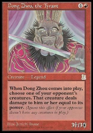 Amazon com: Magic: the Gathering - Dong Zhou, the Tyrant