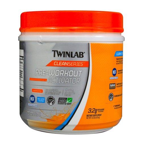 Twinlab serie limpios activador pre-entrenamiento sabor cítrico, 454 gramos