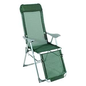 Sillón Relax, Verde y Blanco Relax Tumbona plegable silla plegable camping Silla tumbona