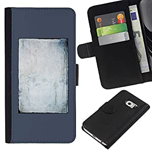 Planetar® Modelo colorido cuero carpeta tirón caso cubierta piel Holster Funda protección Para Samsung Galaxy S6 / SM-G920 EDGE ( Mirror Tabula Rasa Clean Slate Writer )