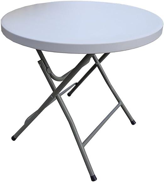 MEI XU Mesa de comedor plegables redondos de plástico para cocina ...