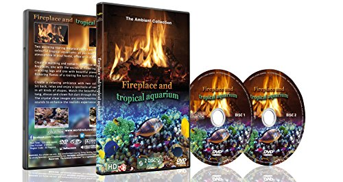 Conversation Piece Collection - Fire and Tropical Fish 2 DVD Set - Fireplace and Tropical Aquarium