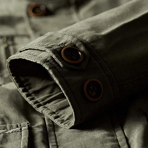 Tops Armee Cotton Multi Classic Mens grün Lungo Caccia Pure Casual Capispalla Vintage Pocket Cappotto Outdoor OcS5nWqwpg