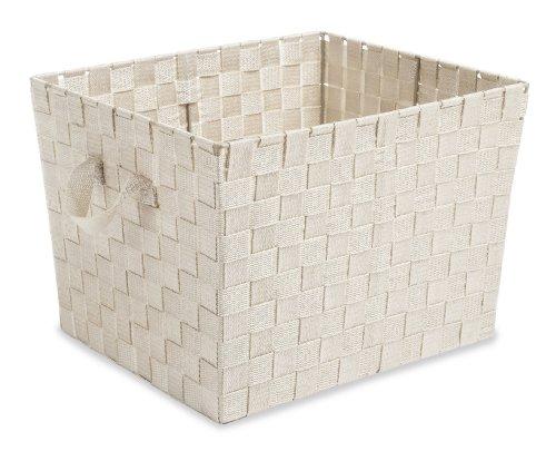 Whitmor Woven Strap Storage Tote Latte - Whitmor Storage Tote