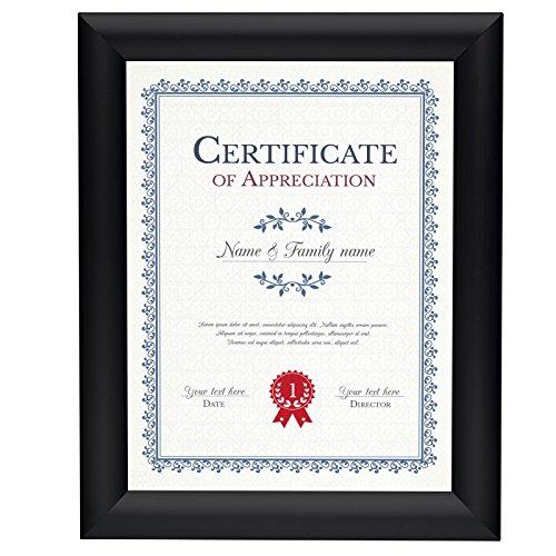 "SnapeZo Diploma Frame 8.5x11 Inches, Black 1.2"" Aluminum Pro"