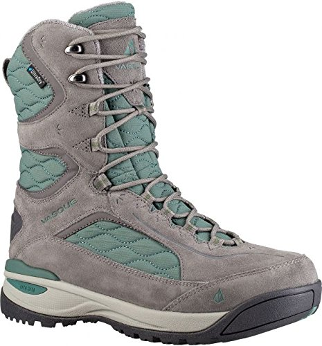 Vasque Women's Pow III UltraDry Snow Sneaker, Grey/Silver Pine, 9 M US