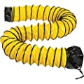 Flame Retardant Flexible Duct 16Ft for 8 Inch Diameter Fan