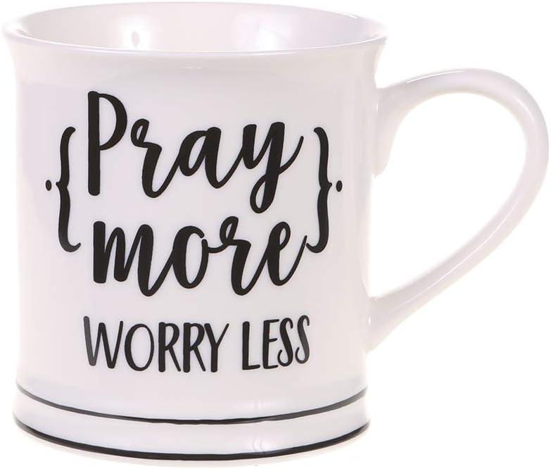 Home Essentials 14Oz Pray More Worry Less Mug