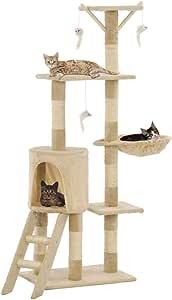 UnfadeMemory Árbol para Gatos,Rascador para Gatos con 1 Escalera,1 ...