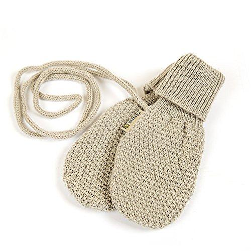 - Janus 100% Merino Wool Baby Thumbless Mittens. Made In Norway. (Beige)
